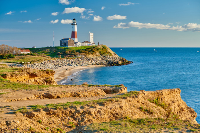 places to visit new new york Montauk,Lighthouse,And,Beach,,Long,Island,,New,York,,Usa.
