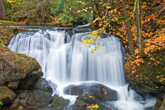 Whatcom Falls waterfalls near Seattle