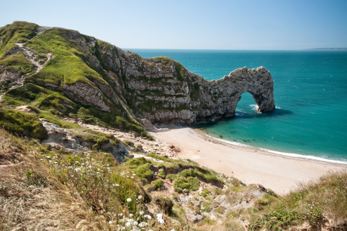 The,South,West,Coastal,Path,,Dorset.,Durdle,Door.,Part,Of