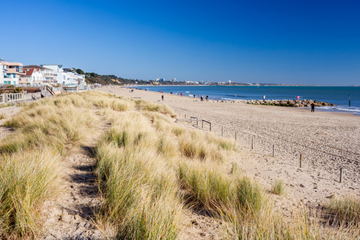 Beautiful,Golden,Sandy,Beach,At,Sandbanks,Dorset,England,Uk,Europe
