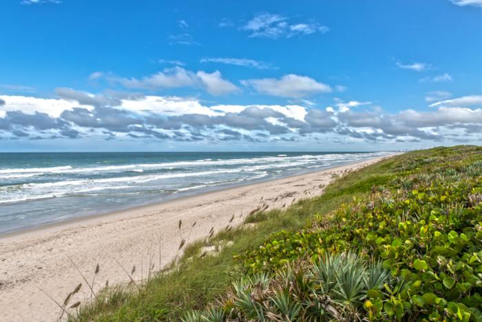 Beaches near Orlando Canaveral National Seashore At Cape Canaveral Florida