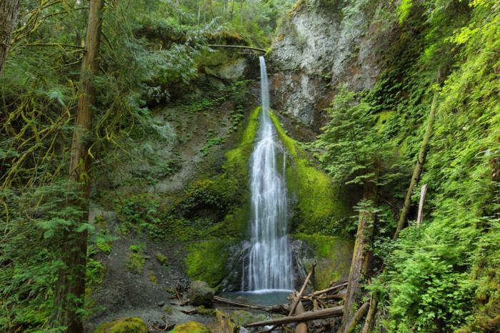 Marymere Falls Whatcom Falls waterfalls near Seattle