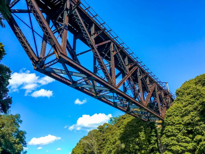 upside down Bridge,In,Lockport,Ny