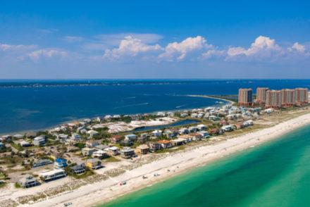 Pensacola,Beach,Aerial,View,Of,Coastline,-,Beach