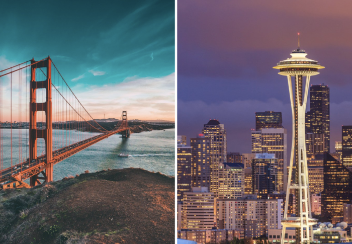 San Francisco to Seattle road trip